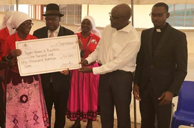 Development Bank of Namibia donates for the construction of a fish dam Tilapia farming and orchard irrigation for northern women's co-operative