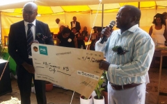 Good studying is good for development Development Bank of Namibia donates N$50,000 towards construction of Rundu school hall